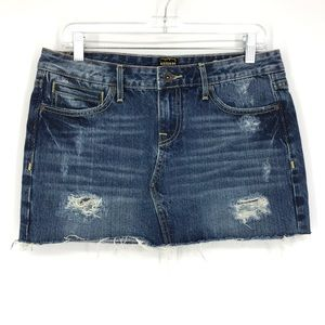 Anoname Sz 29 Liv Denim Mini Skirt Distressed